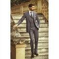 Em 2017 o mais recente homem terno formal três-pedaço moda terno do noivo vestido elegante escritório moda três-piece terno dos homens