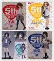 """Figuras de ação anime japonês K-ON! Hirasawa Yui quinto Aniversário Ver. PVC Action Figure Modelo Toy 7 """"18 CM figura colecionável"""