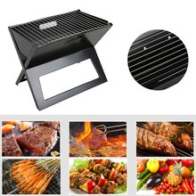 Folding Portable Charcoal BBQ Stove Box Foldable Barbecue Grill For Household Outdoor Camping Picnic Party Easy Storage Carry
