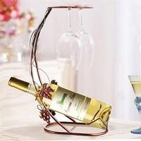 Moda vinho rack de suporte de vidro, 2 - 1, Pode conter 1 de 2 de vidro, Tantalus bar acessórios, Frete grátis