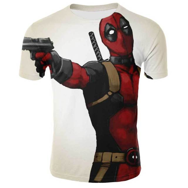 New Arrive American Comic Badass Deadpool T-Shirt Tees Men Women Cartoon Characters 3d T shirt Funny Casual Tee Shirts Top