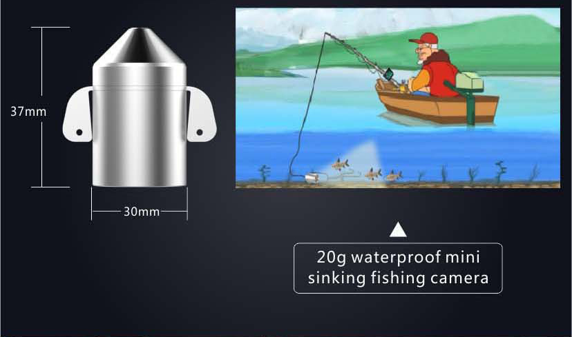HD Underwater Video Camera System with 4.3 LCD Monitor 4000mAh Battery Built-in & 20M 2MP Fishing Camera and AHD Camera on LCD_10