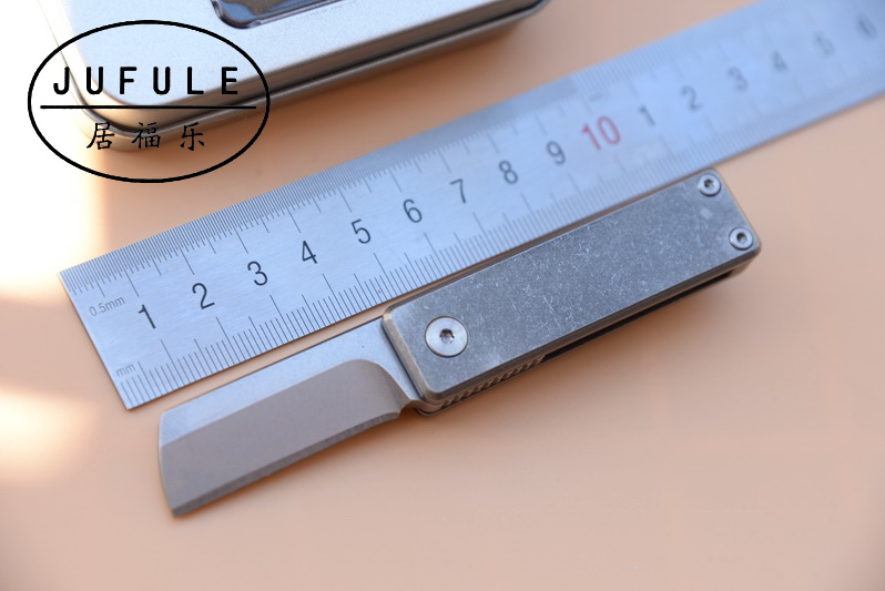 JUFULE made serge Opener Folding M390 Blade Titanium Handle Survival Pocket Knives Camping Hunting Key EDC Tool kitchen Knife high quality army survival knife high hardness wilderness knives essential self defense camping knife hunting outdoor tools edc