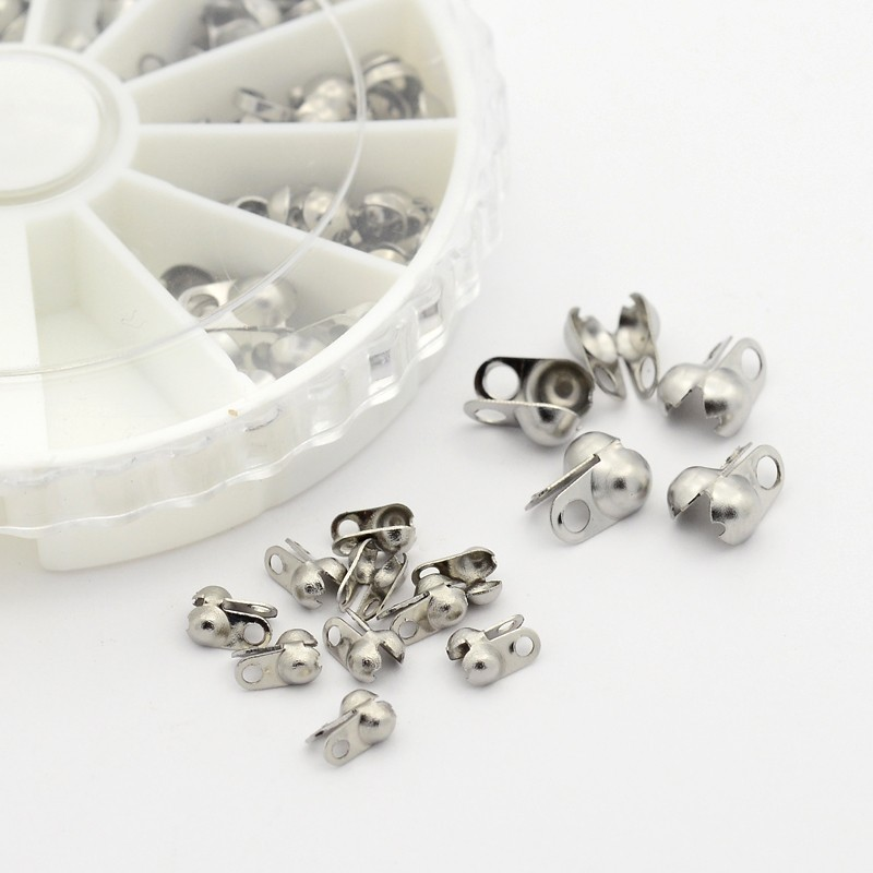 PandaHall 1pcs 4~8x2~5mm Mixed Sizes 304 Stainless Steel Metal Jewelry Findings Accessories DIY Bead Tips Knot CoversPandaHall 1pcs 4~8x2~5mm Mixed Sizes 304 Stainless Steel Metal Jewelry Findings Accessories DIY Bead Tips Knot Covers