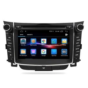"Image 2 - 7 ""IPS Bildschirm Android 9.0 Auto DVD Radio Player Für Hyundai i30 Elantra GT 2012 2016 2 Din Video GPS Navigation Stereo Multimedia"