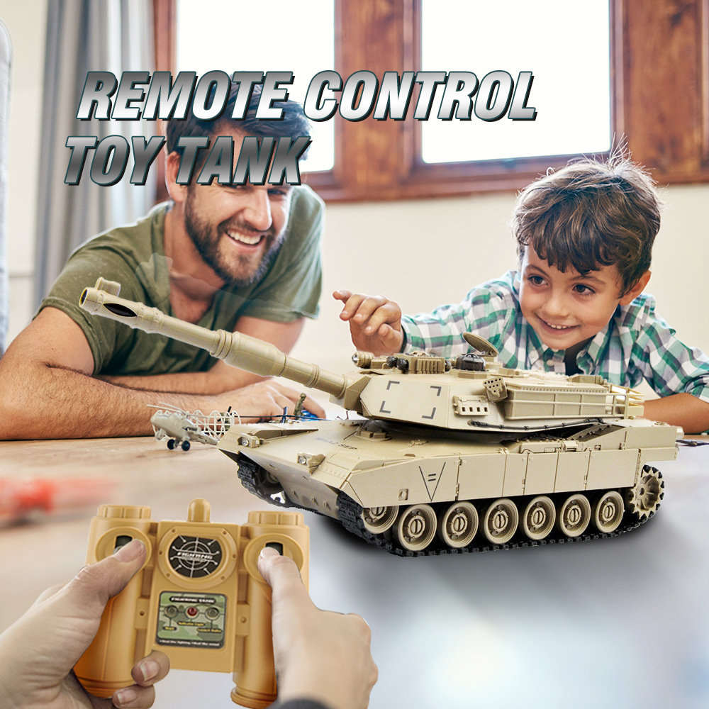 Image 2 - 1/28 RC Tank Remote Control Toys Battle RC Tank M1A2 Automatic Presentation Tanks Via Musical scal Toys For Boys Xmas Gifts-in RC Tanks from Toys & Hobbies