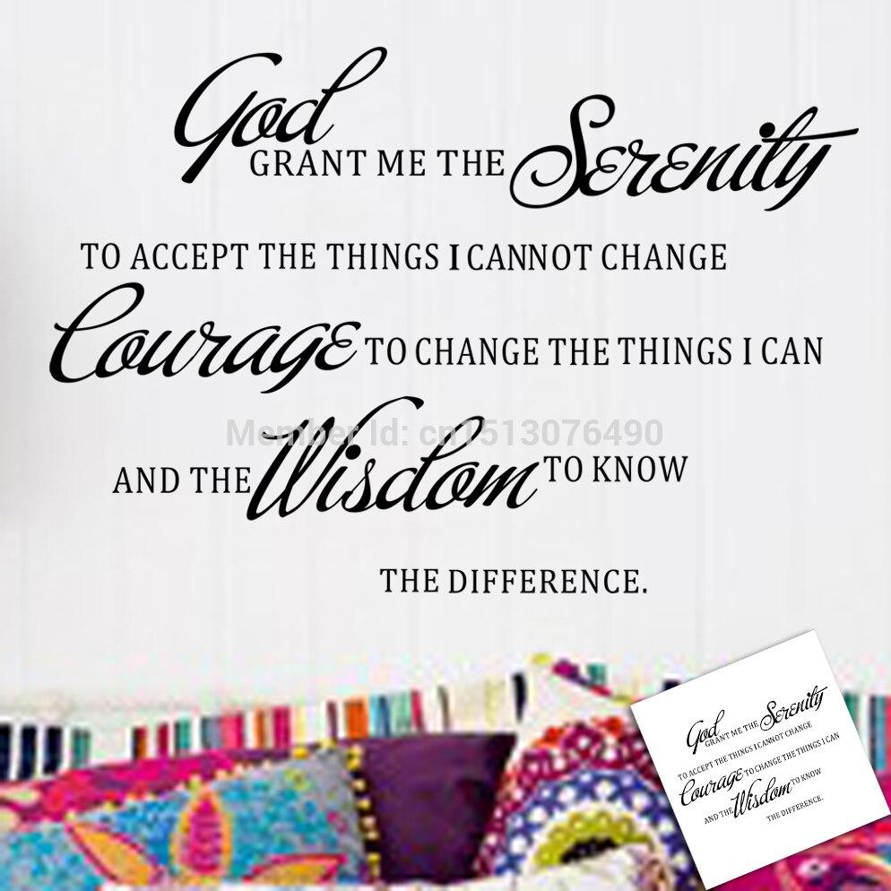 ✅Dios, concédeme la serenidad oración biblia cita arte de la pared ...