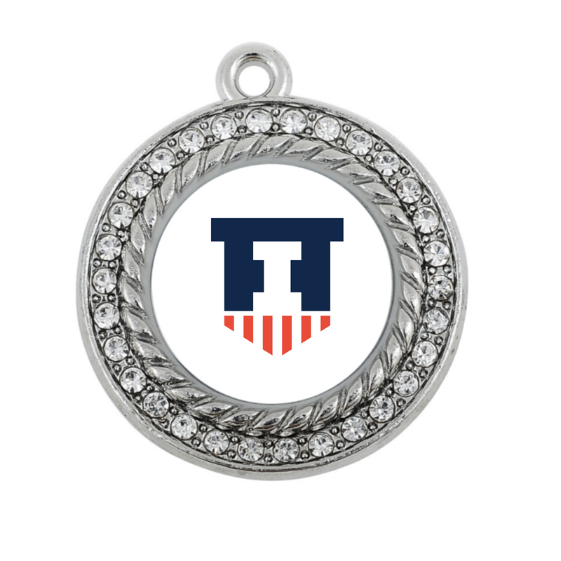 Illinois Fighting Illini CHARM ANTIQUE SILVER PLATED JEWELRY ...