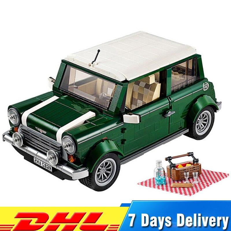 Free shipping 1108 pcs MINI Cooper Car Model Building Kits Blocks Bricks Toys Compatible With 10242 1077 pcs building blocks yile 002 mini cooper model building car for kids bricks for gift compatible with lego 10242 new 21002