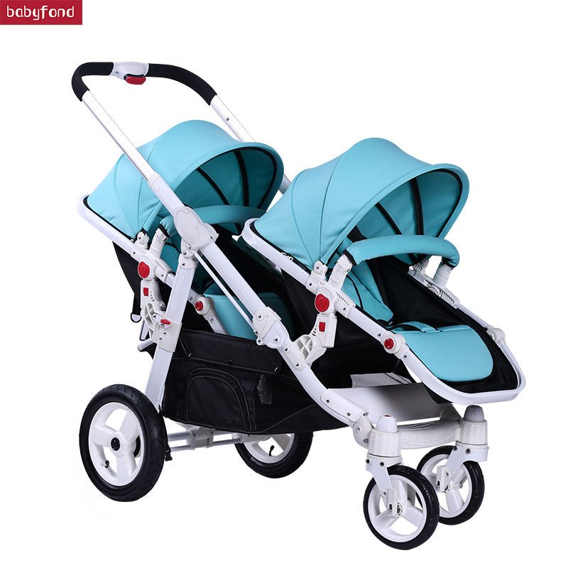 Hk Free Export twins stroller baby strollers 0-4 years baby use suspension wheels send gifts