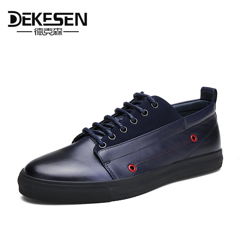 DEKESEN Brand Men Casual Shoes Lace-up 100% Cow Leather Men Flats Shoes Breathable Dress Oxford Shoes For Men Chaussure Homme dekesen brand vintage classic 100