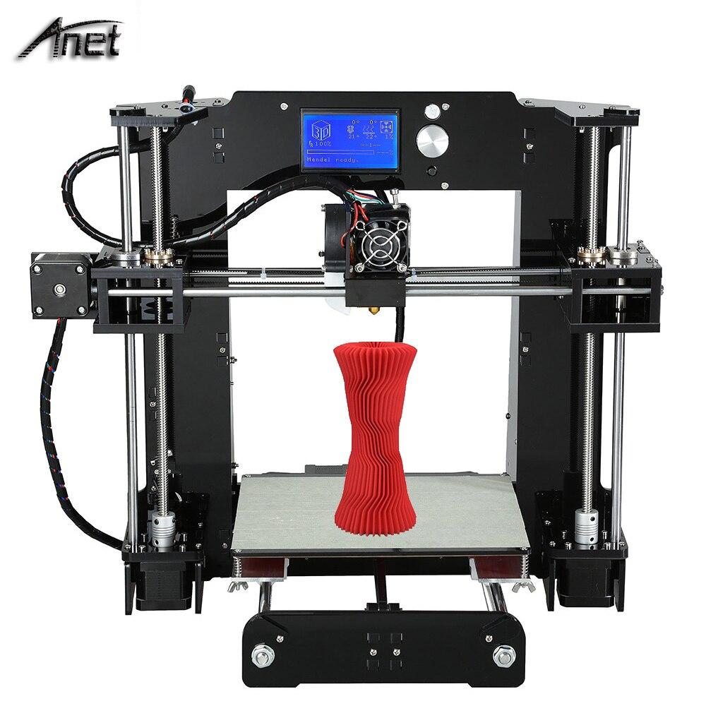 Anet a6 3d-impresora 220*220*250mm reprap prusa i3 diy 3d lcd12864 Kit de impres