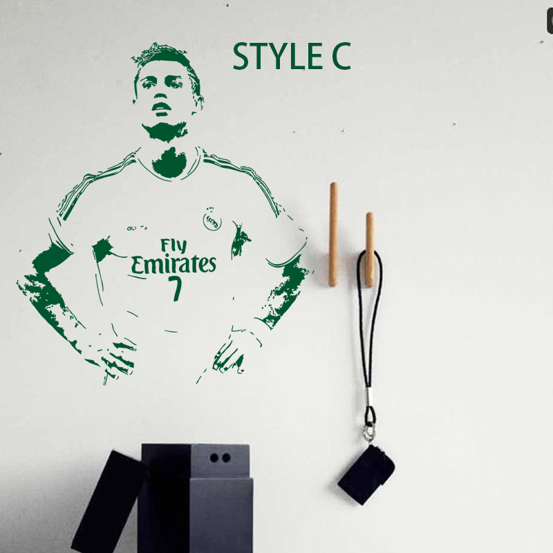 art design home decoration cheap vinyl soccer star cristiano ronaldo