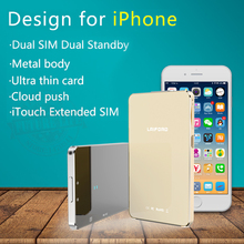Newest Dual 2 Sim Dual Standby Bluetooth Extend SIM Adapter L20 LAIFORD GoodTalk S No Jailbreak For iPhone/ iPod 6th iOS 10