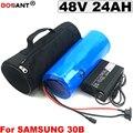 48В 24ач батарея для электровелосипеда Samsung 30B 18650 батарея 48В 1500 Вт литиевая батарея для электровелосипеда + сумка + зарядное устройство 5А Бесп...