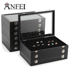 ANFEI 9 Style Display Box Leather Display Jewelry Stand Jewelry Box Gift Box Makeup Organizer Jewelry Organizer Box For Jewelry