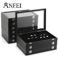 ANFEI 9 Style Display Box Leather Display Jewelry Stand Jewelry Box Gift Box Makeup Organizer Jewelry Organizer Box For Jewelry