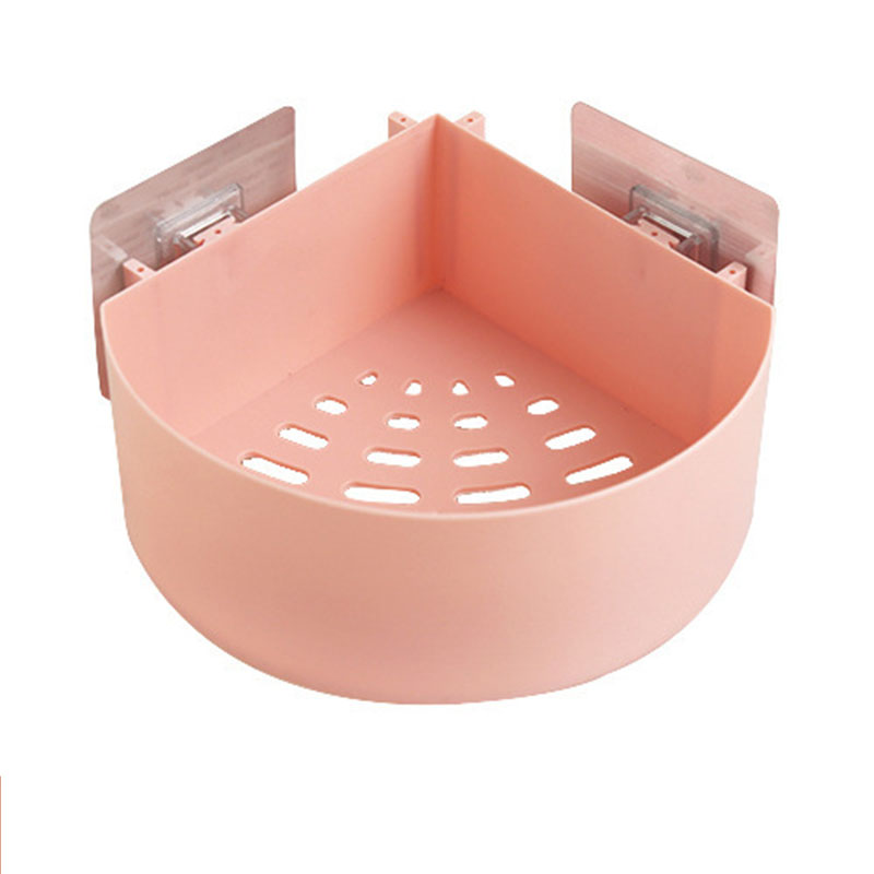 Free punching bathroom shelf plastic toilet bathroom vanity suction cup wall hanging bathroom storage rack