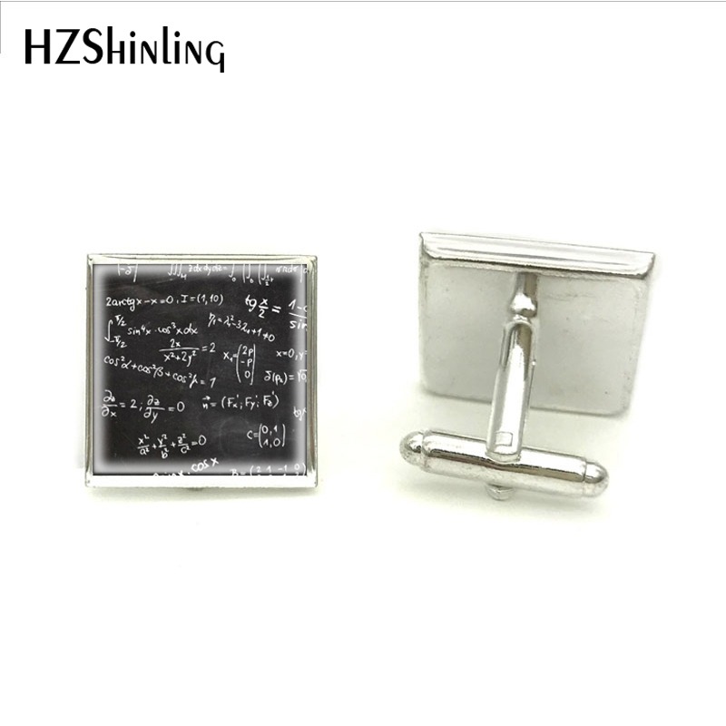 2018 New Math Formulas And Numbers Cuff Link Hot Handmade Cufflink High Quality Hot Jewelry Clothing Accessory
