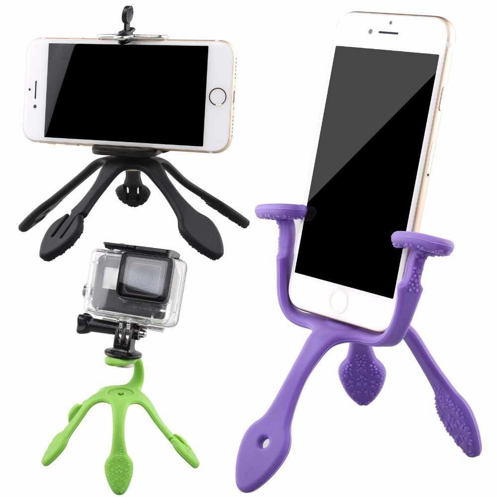 Новый гибкий штатив Gekkopod для iPhone X Gopro 7 6 камера адаптер/держатель телефона Balllhead штатив/Bluetooth сэлфи фотозатвор