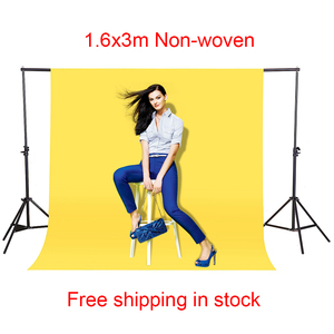 Image 2 - CY In stock 1.6x3m yellow Cotton Non Woven Textile Muslin Photo Backgrounds Studio Photography Screen Chromakey Backdrop