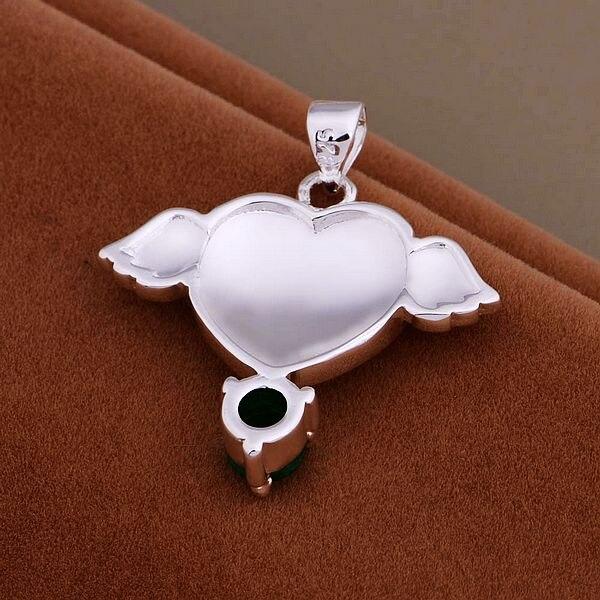 e4d2b39fae AN913 Collar de plata al por mayor de moda 925 colgante de plata de la  joyería del ala del corazón/chyakzfa cnyalffa