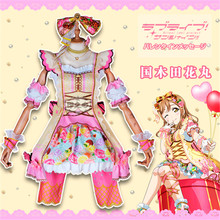 2019 Hot New lovelive Aqours Chocolate Valentines Day 3rd Edition Kunikida Hanamaru Dress Halloween Cosplay Costume Women