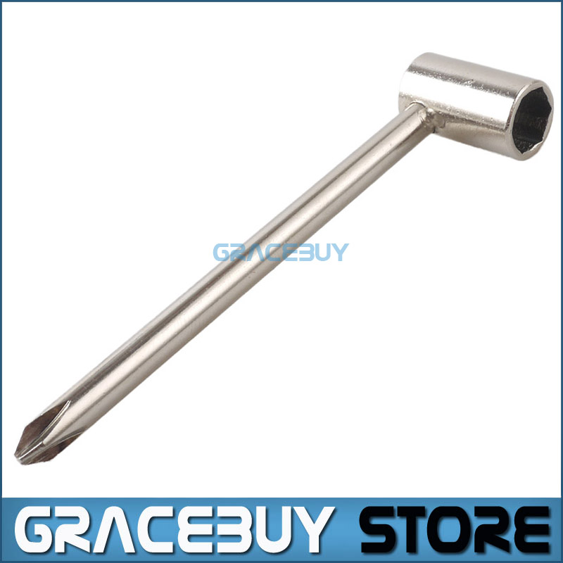 Truss Rod Wrench 8MM 5/16 Inch Silver Metal Truss Rod Tool For Gibson ESP Electric Guitar New new hot two way course adjustment steel truss rod for classical guitar blue