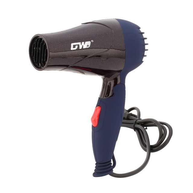 1500W Mini Foldable Hair Dryer Blower Travel Household Electric Hair Blow Dryer Hot Wind Low Noise Hairdryer EU Plug AC 220V 4