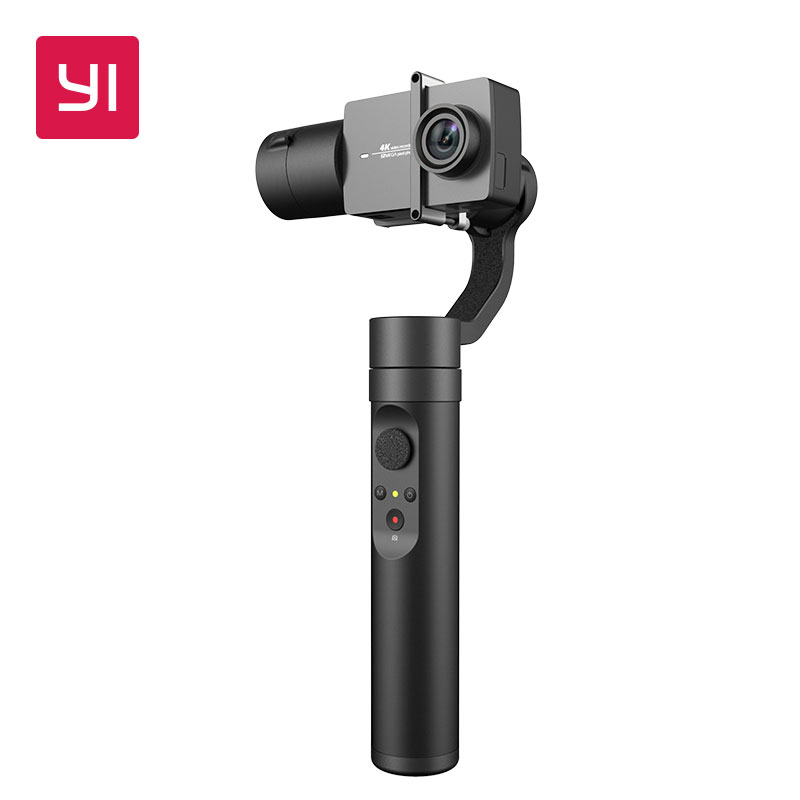 YI acción de cardán 3-eje 4 Bluetooth modos Control de 6-8 horas de batería estabilizador para YI 4 K Plus 4 K YI Lite Cámara de Acción