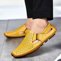 Gli uomini di Moda In Pelle Sandali Più Il Formato 45 46 47 Casuale Slip-on Scarpe Estive 5 Colori Taglia 38-47