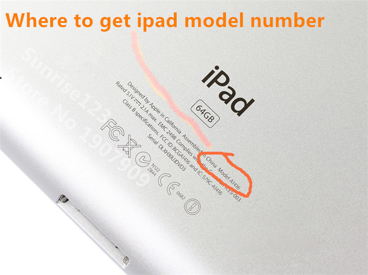 Where to get iPad model number 800 shuiyin