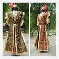 Китайский Национальный Hanfu Желтый Красный Древний Китайский Костюм Hanfu Мужская Одежда Традиционная Национальная Тан Костюм Этап Косплей Костюм