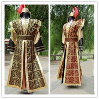 Chinese National Hanfu Yellow Red Ancient China Costume Hanfu Men Clothing Traditional National Tang Suit Stage