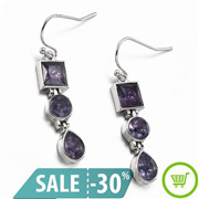 Fashion-925-Silver-Amethyst-Square-Round-Pear-Drop-Dangle-Hook-Earrings-Jewelry-For-Fashion-Woman-Free