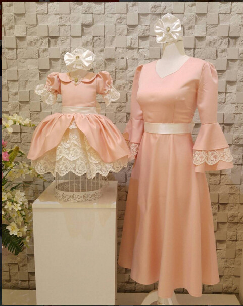 16w Blush Pink Short Knee Length Girl Prom Dresses Lace And Ruched Ball Gown 1st Birthday Party Outfits In Dresses From Mother Kids On