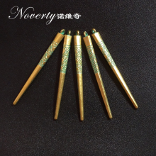 10pcs bag 55 5MM Retro Patina Plated Zinc Alloy Green Tip Needle Spike Charms Pendants For