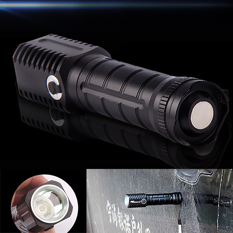 6000LM CREE LED XPE Magnet Flashlight Zoomable Tactical Flashlight Waterproof Torch Aluminum Flash Light for 1*18650 Battery u king zq g008 xpe q5 18650 800lm zoomable led flashlight