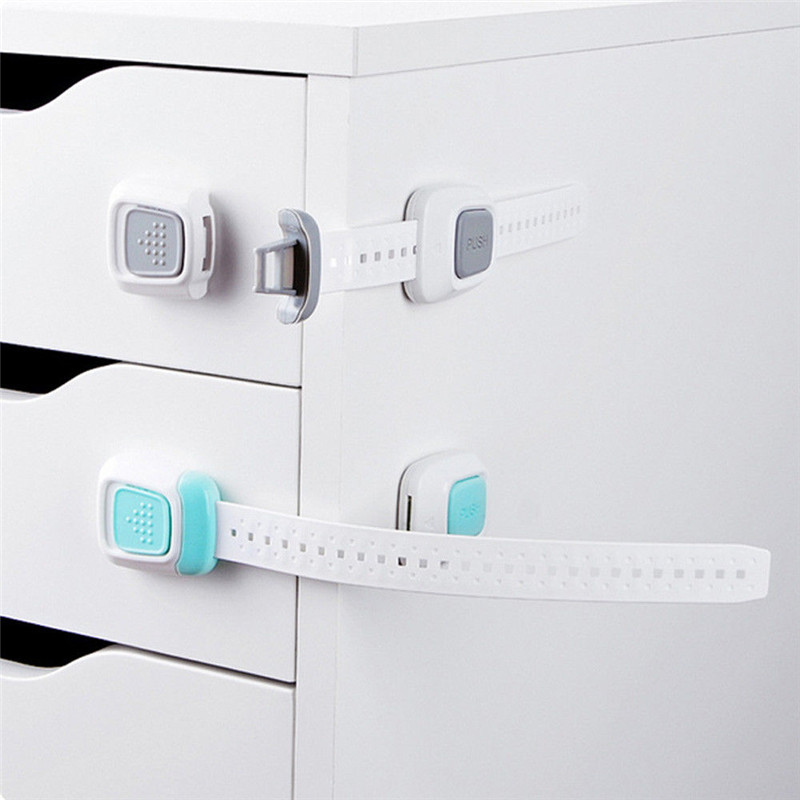 Baby Child Kid Safety Safe Lock Gate Drawer Doorway Cabinet Fridge Door Multi Function Long Lock ...