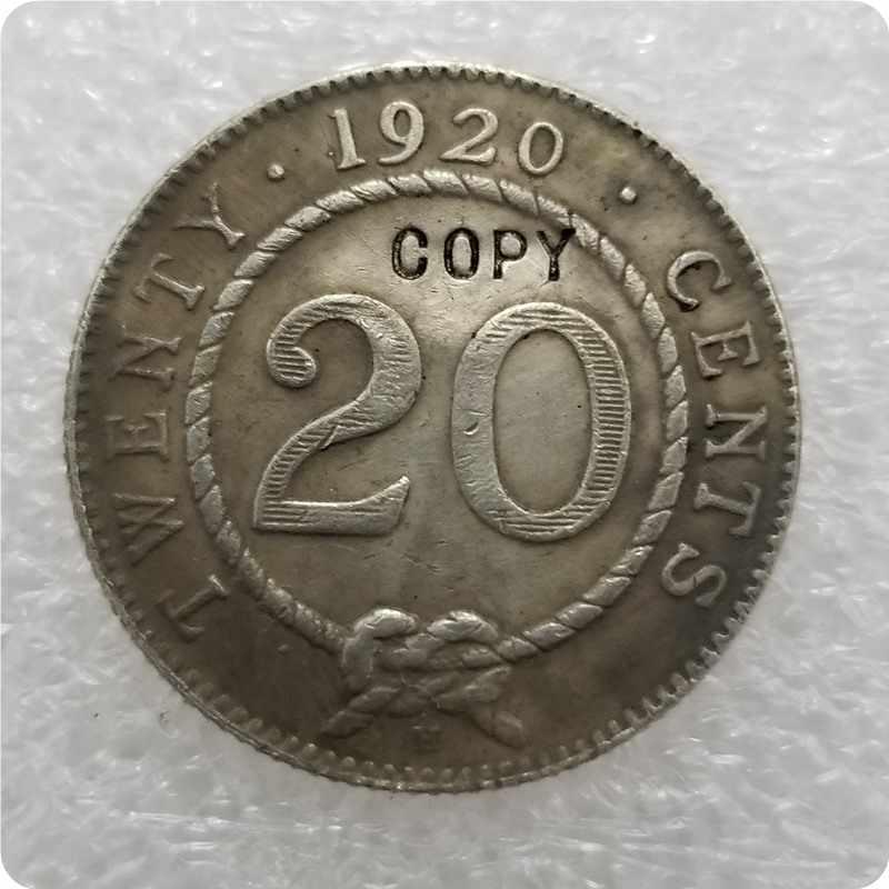 1906,1910, 1911,1913, 1915,1920 Sarawak 20 cent COPY KOPIE gedenkmünzen-replik münzen medaille münzen sammlerstücke
