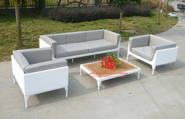 Aluminum Frame Sofa Set PE Wicker Garden Furniture,F-leisure Ways Outdoor Rattan Sofa Furniture,luxury Rattan Outdoor Furniture