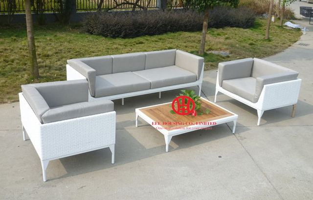 Aluminum Frame Sofa Set Pe Wicker Garden Furniture F Leisure Ways Outdoor Rattan