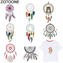 ZOTOONE Dreamcatcher Patches Iron on Transfers for Clothes T-shirt Heat Transfer Colorful Sticker DIY Accessory Appliques F1