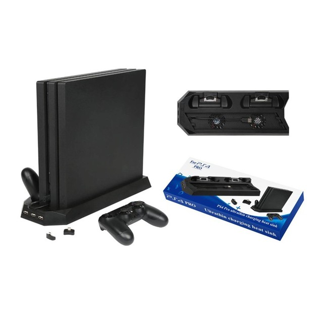 אנכי Stand קירור מאוורר Cooler תחנת טעינה עם 3 HUB עבור Sony פלייסטיישן 4/PS4 פרו