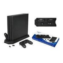 Station de recharge verticale de refroidisseur de ventilateur de support avec 3 HUB pour Sony Playstation 4/PS4 Pro
