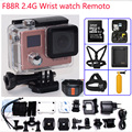 Hot Action camera F88R extreme sport  HD WiFi 1080P  wrist watch remoto Dual screen 2.0 Lcd Helmet go 30m pro waterproof camera