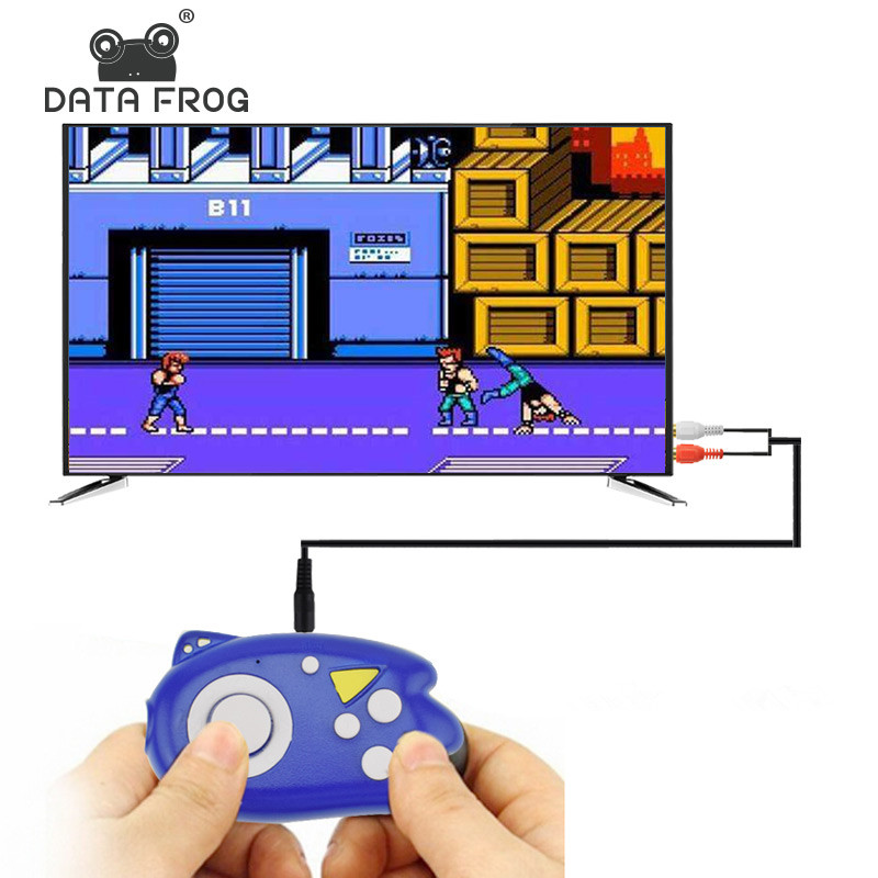 Data Frog 8 Bit Mini Video Game Console Players Build In 89 Classic Games Support TV Output Plug & Play Game Player Best Gift