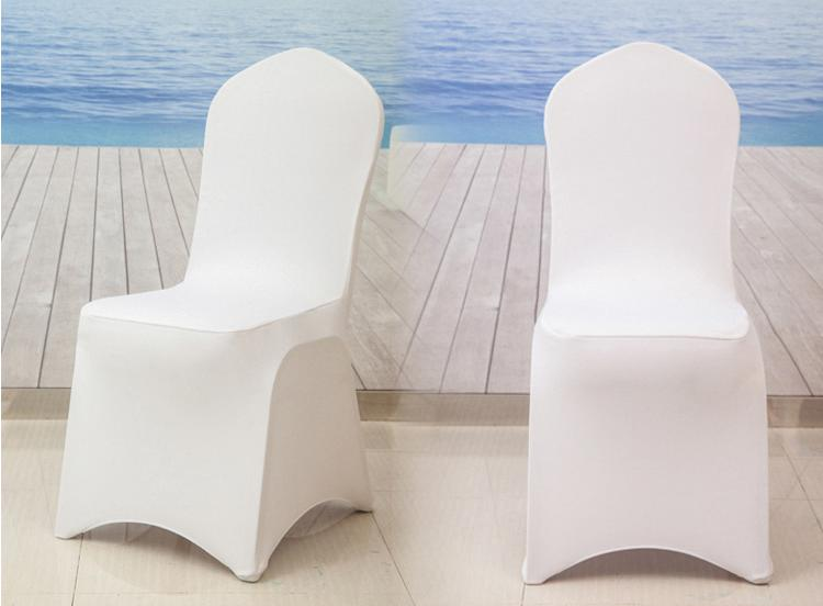 Universal White Stretch Polyester Spandex Wedding Party Chair Covers for Weddings Banquet Hotel Decoration Decor