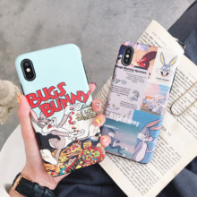 Minimum mobile phone case for HUAWEI P20 30 PRO Navo2s 3 4 Cut Bugs Bunny Pattern Cartoon honor8X IMD skil print back cover