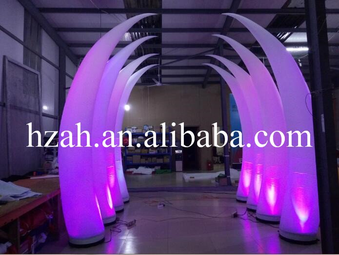 Romatic Inflatable Light Ivory for Event and Party Decoration event decoration inflatable stand flower